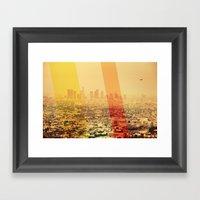 L.A Framed Art Print