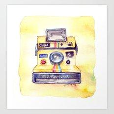 Vintage gadget series: Polaroid OneStep camera Art Print