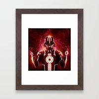 Tron Vader Red Framed Art Print