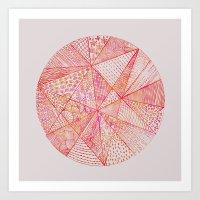 Circle Of Life - pink & orange Art Print