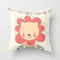 Leo the Lion  Throw Pillow