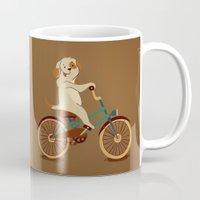 Puppy On The Bike Mug