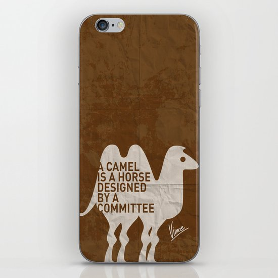 My - A camel is a horse designed by a committee - quote poster iPhone & iPod Skin
