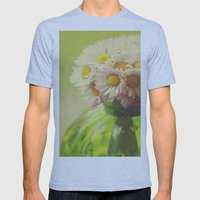 Flowers in the Window Mens Fitted Tee Athletic Blue SMALL