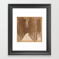Single File  Framed Art Print