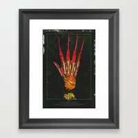 Nightmare on Elm St. Framed Art Print