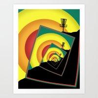 Spinning Disc Golf Baske… Art Print