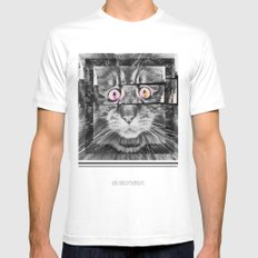Ailuromaniac White Mens Fitted Tee SMALL