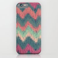 iPhone & iPod Case featuring IKAT CHEVRON by Nika