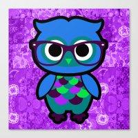 Nerdy Owl Canvas Print