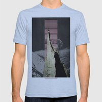 meditation Mens Fitted Tee Athletic Blue SMALL
