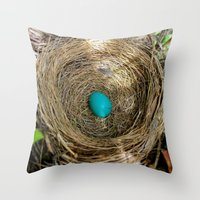 One Little Robin's Egg Throw Pillow