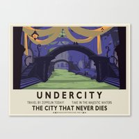 Undercity Classic Rail Poster Canvas Print