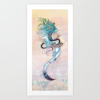 Journeying Spirit (ermine) Art Print