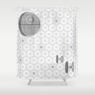 Star Wars Death Star, Ti… Shower Curtain