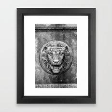 Classical Lion Framed Art Print