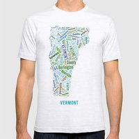 Word Cloud - Vermont Mens Fitted Tee Ash Grey SMALL