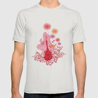 blossom Mens Fitted Tee Silver SMALL