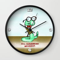 Soil Conservation Manager Wall Clock