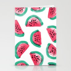 Painted Watermelon Pattern Stationery Cards