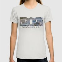 Lost Home Womens Fitted Tee Silver SMALL
