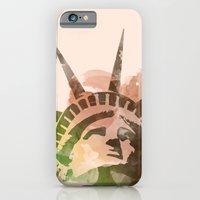 iPhone & iPod Case featuring Miss Liberty by Msimioni
