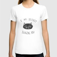 Cats Womens Fitted Tee White SMALL