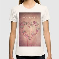 Love is in the air.. Womens Fitted Tee Natural SMALL