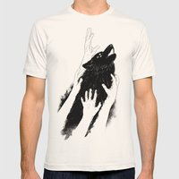 Wolves of Paris Mens Fitted Tee Natural SMALL