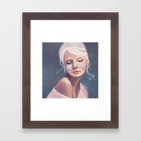 Her Cheeks Glowed With T… Framed Art Print