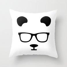 Nerd Panda Throw Pillow