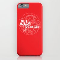 iPhone & iPod Case featuring Life is All Right (RED) by Cupi W