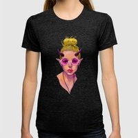 Monster Girl #3 Womens Fitted Tee Tri-Black SMALL