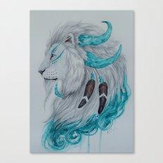 Warrior lion2 Canvas Print