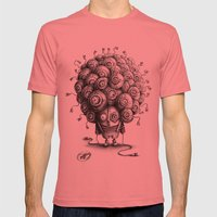 #19 Mens Fitted Tee Pomegranate SMALL
