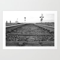 Down The Tracks Art Print