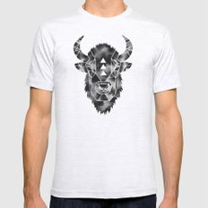 Fractured Geometric Buffalo  Mens Fitted Tee Ash Grey SMALL