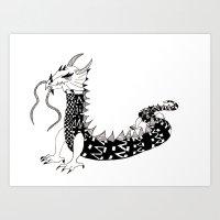 Dragon of the Dark Art Print