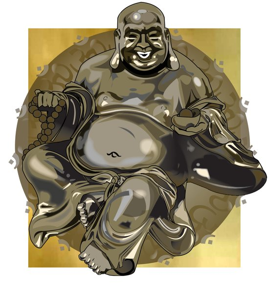 Laughing Buddha II Art Print