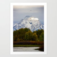 Morning in the Tetons Art Print