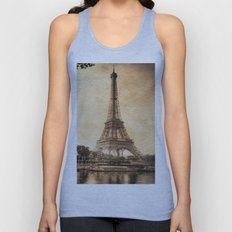 Vintage Eiffel Tower 2 Unisex Tank Top
