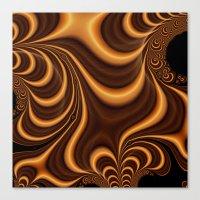 Caramel Twist Canvas Print
