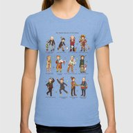 The Twelve Doctors Of Ch… Womens Fitted Tee Tri-Blue LARGE
