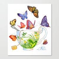 Butterfly Tea Canvas Print
