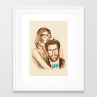 I love your Glasses Framed Art Print