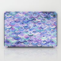 Marble Mosaic in Amethyst and Lapis Lazuli iPad Case
