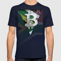 bitcoin South Africa Mens Fitted Tee Navy SMALL