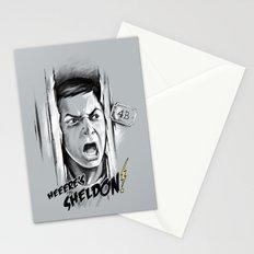 Heeere's Sheldon! Stationery Cards