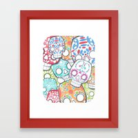 skulls sugar Framed Art Print