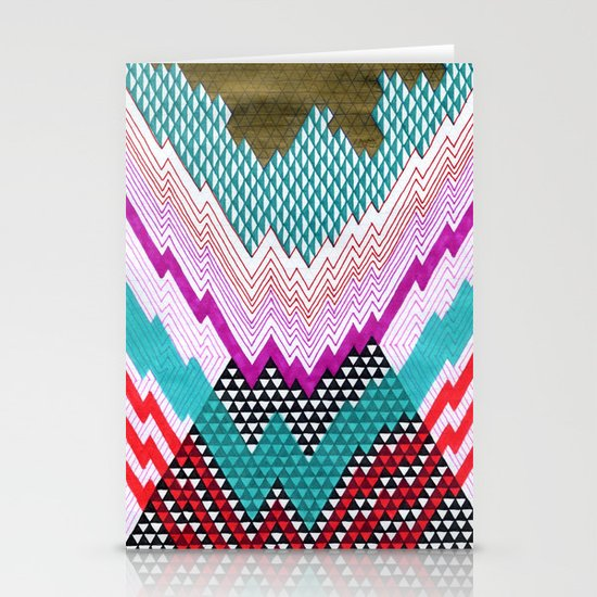 Isometric Harlequin #5 Stationery Card